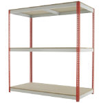 Kwik Rak Wide Span Shelving Red 1980H x 1800W x 900Dmm