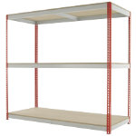 Kwik Rak Wide Span Shelving Red 1980H x 2100W x 600Dmm