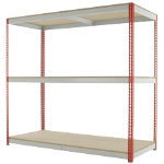 Kwik Rak Wide Span Shelving Red 1980H x 2100W x 900Dmm