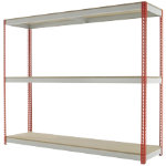Kwik Rak Wide Span Shelving Red 1980H x 2400W x 450Dmm