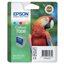 Epson T008 Original Black & 4 Colours Cartridge C13T00840110
