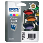 Epson T0410 cyan magenta yellow tri colour printer ink cartridge T041020