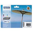 Epson T0445 Original Ink Cartridge C13T04454010 Black 3 Colours Pack 4