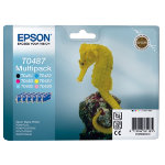 Epson T0487 Black and 5 Colour Pack Printer Ink Cartridge T048140BA