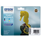 Epson T0487 Original Ink Cartridge C13T04874010 Black 5 Colours Multipack