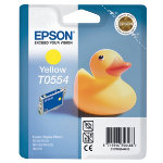 Original Epson T0554 yellow printer ink cartridge T055440