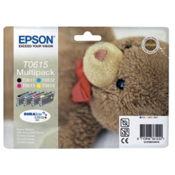 Epson T0615 Original Black & 3 Colours Ink Cartridges C13T06154010