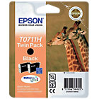 Epson T0711H black printer ink cartridge Twin Pack T07114H