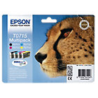 Epson T0715 Original Black 3 Colours Ink Cartridges C13T07154010