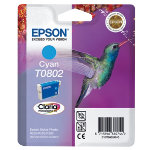 Epson T0802 cyan printer ink cartridge T080240