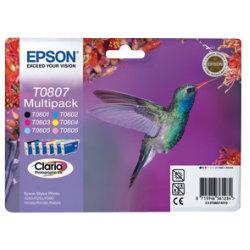 Epson T0807 Original Black & 5 Colours Ink Cartridges C13T08074011