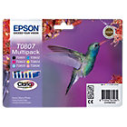 Epson T0807 Original Black 5 Colours Ink Cartridges C13T08074011