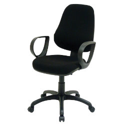 GGI Air Support high back office operator chair in black