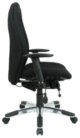 Energi Executive Office Operators Chair In Black Fabric By Viking - Viking office chair