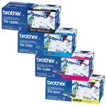 Brother TN 130BK C M Y Original Black Cyan Magenta Yellow Bundle Toner Pack