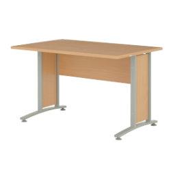 Prima 1500mm straight office desk in beech-effect