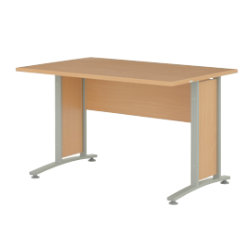 Prima 1200mm straight office desk in beech-effect