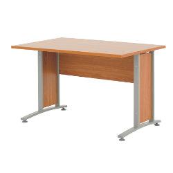 Prima 1200mm straight office desk in cherry-effect
