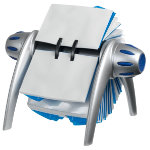 Durable Visifix Flip Business Card Holder