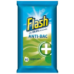 Flash Antibacterial Wipes 56 Pk
