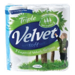 Velvet Toilet roll pack of 9