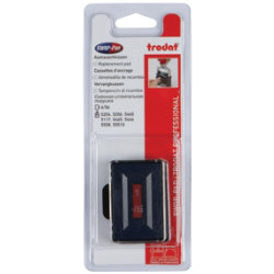Replacement Twin Ink Pad for Trodat 4 Line Plus Date Stamp Red and Blue