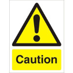 Warning Sign Caution PVC 150 x 200 mm
