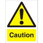 Warning Sign Caution Self Adhesive Vinyl 150 x 200 mm