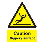 Warning Sign Caution Slippery Surface PVC 150 x 200 mm