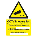 Warning Sign Warning CCTV Cameras In Constant Operation Self Adhesive Vinyl 200 x 150 mm