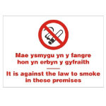 No Smoking Sign Welsh Language