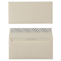 Conqueror Wove Peel And Seal Envelopes 120gsm Vellum DL 110 x 220 mm 500 Per Box