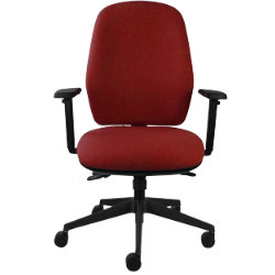 All Day Comfort Executive Chair Fabric Burgundy