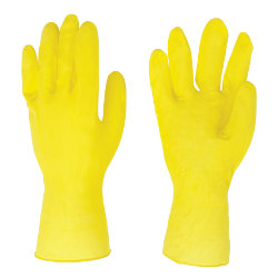 Rubber Gloves Medium Yellow