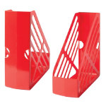 Large Capacity Plastic Magazine Files Red