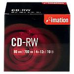 10 Stück Imation CD-RWs im Jewel Case 700 MB 80 Min.