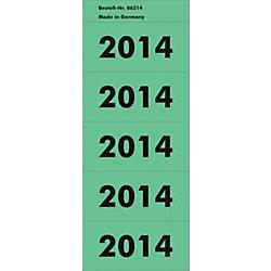 Inhaltschildchen 2014 57 mm 5,7 x 2,8 cm Grün 100 Stück