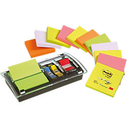 Haftnotizen-Spender Z-Notes Neonfarben 76 x 76 mm 70 g/m² 12 x 100 Blatt