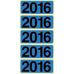 Jahreszahlen 2016 48 x 19 mm Blau 100 Stück
