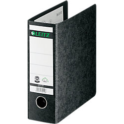 Qualitäts-Ordner Hartpappe 1075 DIN A5 hoch Schwarz 80 mm 2 77 x 298 x 176 mm