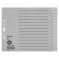 Papier-Register 1224 DIN A4 Überbreite (halbe Höhe) Grau 15-teilig Tauenpapier Blanko