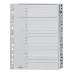 Kunststoff-Register 1260 DIN A4 Überbreite (volle Höhe) Grau 20-teilig Polypropylen A - Z