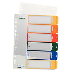 Register 1292 DIN A4 Überbreite Transparent 6-teilig 1 bis 6