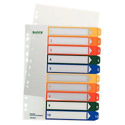 Register 1293 DIN A4 Überbreite Transparent 10-teilig 1 bis 10