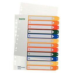 Register 1294 DIN A4 Überbreite Transparent 12-teilig 1 bis 12