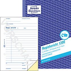 Regiebericht 1306 DIN A5 2 x 50 Blatt