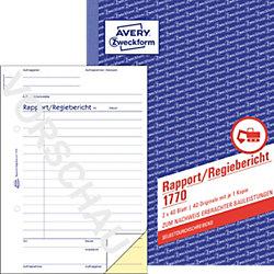 Rapport/Regiebericht 1770 DIN A5 2 x 40 Blatt