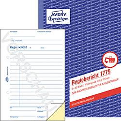 Regiebericht 1775 DIN A5 2 x 40 Blatt