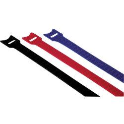 Klett-Kabelbinder 20537 Farbig sortiert 11 x 200 mm 12 Stück