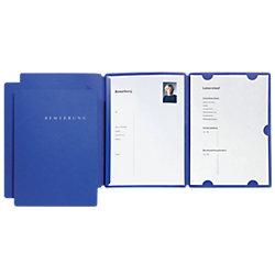 Bewerbungsmappen Select DIN A4 Blau 3 Stück